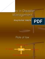 DM - 7- Laws in Disaster Management