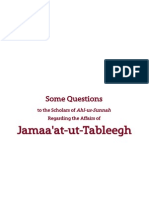 Scholars of Ahl-us-Sunnah Regarding Jamaa'at-ut-Tableegh