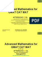 Advanced Mathematics for GMAT CAT MAT