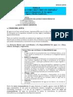 TEMA 8. El agua como recurso en España - NOTAS DE APOYO