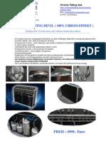 Chromspray - Verbrauchsmaterial 2013