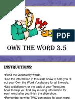 3.5 Vocabulary