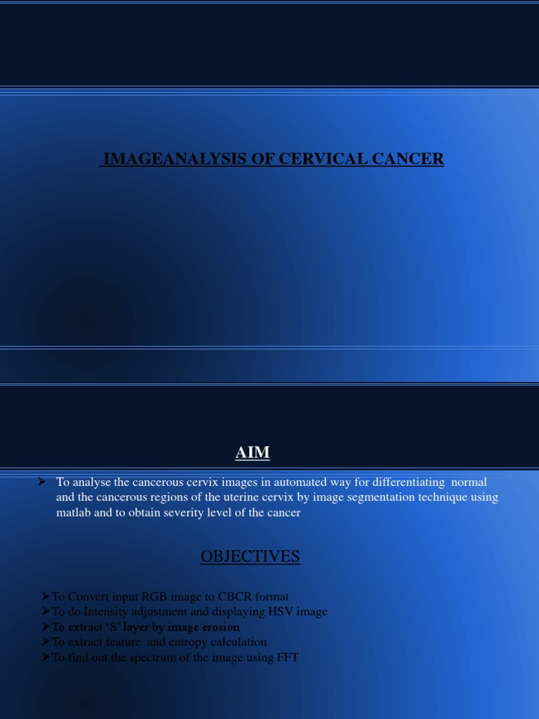 IMAGE ANALYSIS ON CERVICAL CANCER | Cervical Cancer | Image
