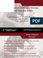 Manual Therapy Summary ANKLE FOOT