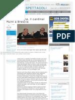 Fede e ragione, il cardinal Ruini a Brescia