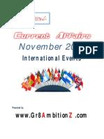 November 2012 Current Affairs - International Events