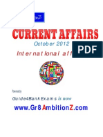 October 2012 Month Current Affairs - International