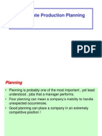 Aggregate Production Planning in Industrial Engineering