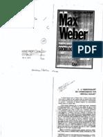 Max Weber - A Objetividade do Conhecimento nas Ciências Sociais