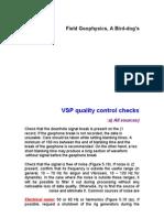 VSP Quality Control Check1