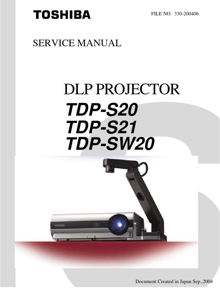 toshiba tdp s20 service manual display resolution personal computers rh pt scribd com