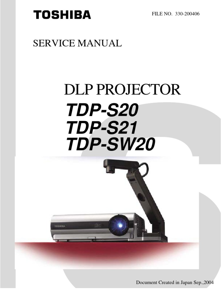 Toshiba TDP-S20 Service Manual | Display Resolution