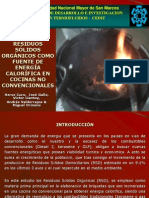 briquetas de residuos sólidos orgánicos como fuente de energía calorífica en cocinas no convencionales