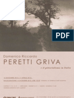 Locandina mostra Domenico Riccardo Peretti Griva