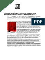 Article11 - Transe Et Tarentules