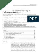High Intensity Interval Training in Cardiac Rehabilitation