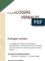 ANALOGÍAS VERBALES
