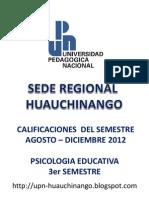 Calificaciones Psicologia 3er Semestre