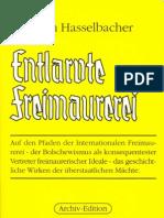 Hasselbacher, Friedrich - Entlarvte Freimaurerei - Band III (1941-1992, 343 S., Scan, Fraktur)