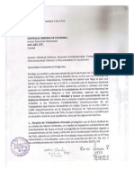 Carta a Centrales Obreras CIDH