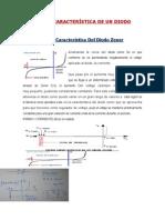 Curva Caracteristica de Un Diodo Zener y Tunel