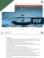 Informe de la calidad fisico quimico microbiologica del agua de la ciudad de 9 de Julio. Provincia de Buenos Aires