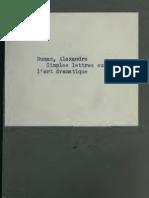 Alexandre Dumas--Simples Lettres Sur l'Art Dramatique (1845)