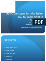 APA Basics for Citation
