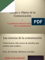 Objeto y campo de la comunicación
