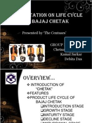 product life cycle of bajaj chetak | Motor Vehicle | Land Vehicles