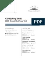 2009 Sct Csa Paper Test