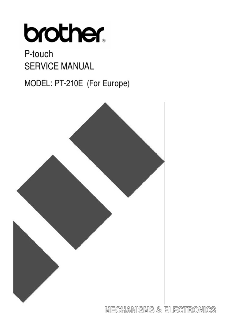 Brother PT-210e Service Manual   Electronic Circuits   Printed Circuit Board
