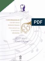 CSO 2012-2013 Konser Programı