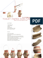 Tutorial paper roll christmas lantern