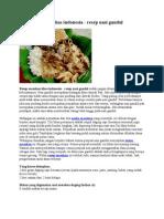 Resep Masakan Khas Indonesia