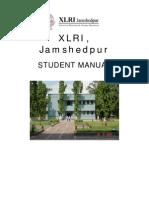 XLRI Student Manual for PGCBM