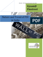 Nature and Trend of FDI in India