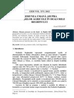 prof. dr. Szilágyi József - Presiunea umana asupra terenurilor agricole in Dealurile Reghinului