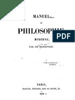 Manuel de la philosophie moderne