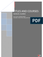 TITLES AND COURSES