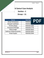 Suzuki Samuri Case Study Analysis