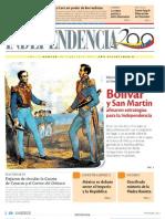 1822 Bolívar y San Martín afinaron estrategias para la Independencia