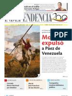 1850 Monagas expulso a Páez de Venezuela