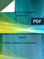 Regional Anaethesia 1