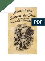 Basho - Sendas de Oku (Trad.octavio Paz)