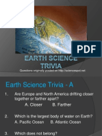 Earth Science Trivia