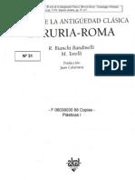 BIANCHI-BANDINELLI y TORELLI El arte de la antigüedad clásica - Etruria-Roma