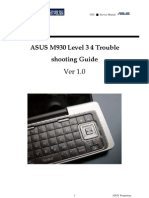 ASUS M930 Trouble Shooting Guide