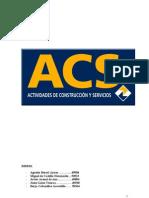ACS; ORGANIZACION Y RENTABILIDAD ECONOMICA
