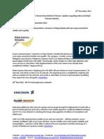 Telecom Uncovered Report 28- 29 Nov 2012